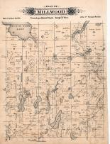 Millwood Township, Kings Lake, Birch Bark Lake, Cedar Lake, Long, Mary, Stearns County 1896 published by C.M. Foote & Co
